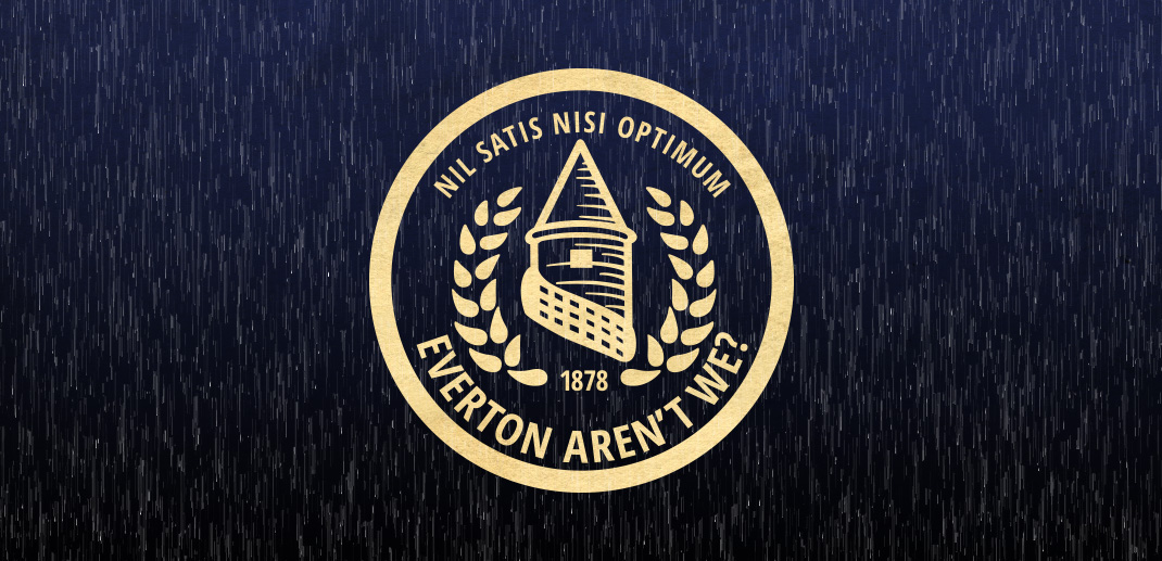 Everton Aren't We - Logo - Rain